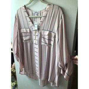Light pink striped blouse